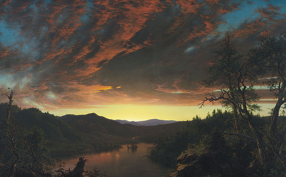 Twilight in the Wilderness (1860) by Frederic Edwin Church